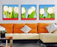 lale çiçek kanvas toptan satış-Tuval Wall Art Ev Dekorasyon Set30414 On Modern Tulipa Gesneriana Çiçek Boyama Giclee Baskı