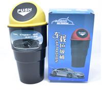 lata de lixo automática do carro venda por atacado-Conveniente Mini Auto Car Casa Lixo Lixo Pode Lixo Caso Titular Caixa Bin Caixa De Lixo