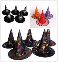 Wholesale Halloween Witch hats caps costumes cosplay Props party adult and child decorations ornament accessories prop scary item you can choose
