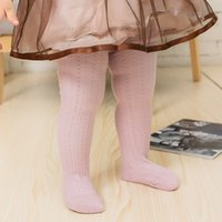 Wholesale Tights For Sale Wholesale - Wholesale-Hot Sale Baby Girls Tights Cotton Harper Seven Style Solid Knitted For 0-2T Casual Cute Baby Gilrs Stocking Tights DQ032