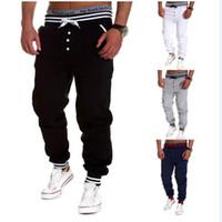 Wholesale Jogging Style Sarouel - Harem Pants New Style Fashion 2016 Casual Skinny Sweatpants Sport Pants Trousers Drop Crotch Jogging Pants Men Joggers Sarouel