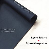 Wholesale Neoprene Coating - Lycra neoprene fabric 3mm sbr cr sheet coated lycra spandex fabric 4-way-stretch black for diving suit shoes slimming shorts