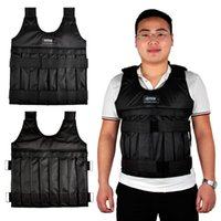 Wholesale Weight Vests - SUTEN 20kg Weight Addable Vest With Sholder Pads Comfortable Weight Jacket Adjustable Sanda Exercise Boxing Sand Clothing (Empty) 2502046