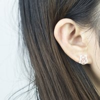 Wholesale Stainless Steel Earring Owl - Wholesale 10Pcs lot Hot Sell 2017 Fashion Punk Stainless Steel Jewelry Lot Earrings Vintage Origami Owl Stud Earrings For Women