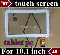 Wholesale Rk3188 Tablet Inch - DHL 50PCS Replacement original Touch Screen with Glass lens for 10.1 inch tablet pc A31S RK3188 Quad core black and white TC10