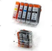 ingrosso stampanti pixma-Cartuccia d'inchiostro 5pcs per stampante Canon PIXMA MP500 / MP510 / MP520 / MP530 / MP600 / MP600 / MP610 / MP800 / MP800 / MP810 / MP830 / MP950 / MP960 / MP970 PGI5BK CLI8