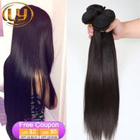 Wholesale Cheap Grade Weave - 7A Grade Virgin Peruvian Virgin Hair Straight 3 Bundles Deal Peruvian Straight Virgin Hair Cheap Remy Human Hair Extensions #1B