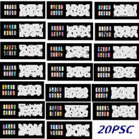 Wholesale art stencil kit - 5Psc lot 2016 New Fashion Airbrush Nail Stencils Set 121-140 Tools Diy Airbrushing Template Sheet for Airbrush Kit Nail Art Paint