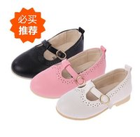 Wholesale Kids Dressing Shoes - Girls Dress Shoes Kids Leather Shoes Children Shoes Kids Footwear Fashion Casual Princess Dress Shoes Children Dress Shoes Girl Shoes