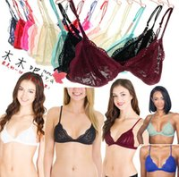 Wholesale Decoration Bra - Wholesale-Hone for yd ew ultra-thin sexy soft lace color block decoration wireless comfortable bra underwear