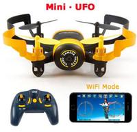 hd fpv kameralar toptan satış-JXD 512 W JXD512W 2.4 Ghz WiFi FPV Mini UFO Tek Anahtar-dönüş Başsız Modu RC Quadcopter ile 0.3MP HD Kamera RTF
