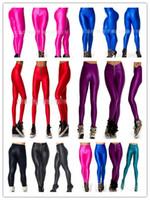 Wholesale Colored Pencils Sale - 2016 Hot Sale women Yoga sport pencil Pants Sexy Slim Stretch pants Multicolor size fluorescent candy colored female hip waist leggings 50