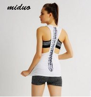 Wholesale Loose Cotton Tanks - Miduo Explosion Models Women Tank Top Fashion Sexy Backless Loose Running Fitness Sport Blouse Quick-Dry Aerobics Yoga Vest