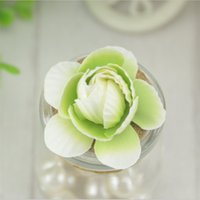 Wholesale Fake Rose Balls - 50 Pcs 4.5cm Mini Artificial Silk Rose Flowers Heads DIY Scrapbooking Peony Bud Fake Flower Kiss Ball For Wedding Decorative