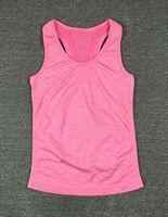 Wholesale Tank Top Undershirts Women - Compression Tank Top Women Gym Vest Fitness Singlets Bodybuilding Stringer Sexy Tops Female Sleeveless Shirt Undershirt Clothes