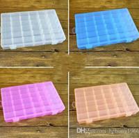 Wholesale desktop screws - Storage Box Multi Function Transparent Plastic 36 Grid Case With Adjustable Plaid Desktop Sundries Screw Durable Contain Boxes 5 6sk D R