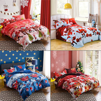 Wholesale Christmas Queen Comforters - 2017 free shipping New 3pcs Merry Christmas Duvet Cover Queen Quilt Comforter Cover Bohemian Bedding Set Twin Full Queen King Set