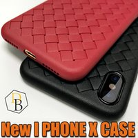 Wholesale Imitation Mobile Phones - For Iphone X 8 New Design Braided Phone Case Selling TPU luxury Striae Imitation Leather Phone Cover For Iphone X Mobile Cellphone Case