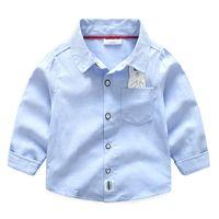 Wholesale Korean Boy S - Spring and Autumn Korean version of the children 's clothing children' s children printed cartoon cotton denim shirt
