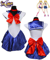 Wholesale Sailor Moon Costumes For Women - sailor moon Women's Sexy Sailor Moon Cosplay For Girl Halloween Game Stage Bar Costume Cosplay Size M XL
