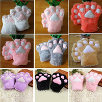 black cotton costume gloves - Sexy The maid cat mother cat claw gloves Cosplay accessories Anime Costume Plush Gloves Paw Party gloves