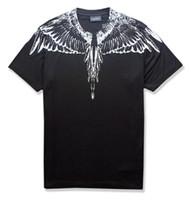 t-shirt venda por atacado-ss novo Marcelo Burlon T-Shirt Dos Homens De Milão Pena Asas T Shirt Das Mulheres Dos Homens Casal Desfile de Moda RODEO REVISTA T Camisas Goros camisetas