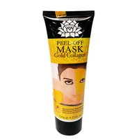 Wholesale face mask milk for sale - Group buy Brand New Peel Off Facial Mask Black Crystal Gold Collagen Milk Blackhead Remover Face Mask Skin Care