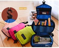 Wholesale Hotel Beauty - 200Pcs Fashion Travel mate Cosmetic bags Makeup Toiletry Purse Holder Beauty Wash Bag hotel Organizer Hanging Cases gifts