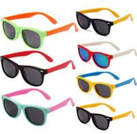 Wholesale baby sunglasses online - Stylish Baby Toddler Kids Boys Girls Frame Outdoor Sunglasses Polarized Glasses kids Sunglasses Polarized Glasses KKA3338