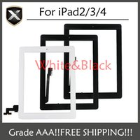 Wholesale Grade A For iPad Touch Screen Digitizer with home button Foe IPad adhesive