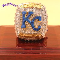Wholesale League Championship Ring - 2015 Kansas City Royals Major League Baseball Championship Ring bottom Price for Fans free shipping sports ring