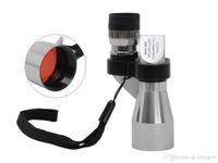 Wholesale Wholesale Mini Binoculars - Mini Pocket Binoculars 8X 20 Silver Metal Monocular Telescope Eyepiece