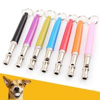 Wholesale flute whistle online - UltraSonic Sound Dog Training Metal Whistle Flute Portable Keychain Dogs Whistle Adjustable Pitch Whistle Pet Supplies