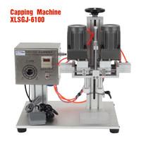 Wholesale Medical Cosmetics - XLSGJ-6100 Desktop Medical bottle capping machine,chemical,Cosmetic,round capping machine,bottle lid locking machine