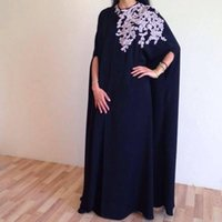 Wholesale Gray Silk Petals - Vintage Arabic Nark Navy Sheath Evening Dresses 2016 High Neck White Lace Appliques Floor Length Prom Dresses Formal Party Gowns Vestidos