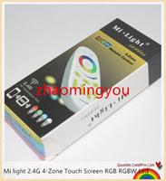 Wholesale Led Wireless Rf - Mi light 2.4G 4-Zone Touch Screen RGB RGBW Led Controller Wireless RF Remote Controller for Mi Light Led Bulb Led Strip Light