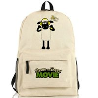 Wholesale Shaun Bag - Shaun the sheep backpack Good day pack Fun cartoon school bag Anime packsack Quality rucksack Sport schoolbag Outdoor daypack