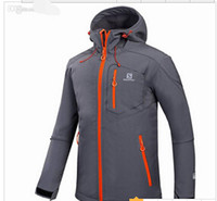 Wholesale Waterproof Hunting Clothing For Men - Wholesale-2016 Windstopper GTX Brand Softshell Outdoor Mens Waterproof Hiking Jackets For Mountain Camping Ski Hunting Clothes Rain Jacket