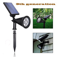Wholesale Solar Ground Outdoor - Outdoor Waterproof In-Ground Spotlight 4LED Solar Energy Power Garden Lawn Landscape Yard Decoration Light Lamp Free Shipping