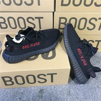 Wholesale Wholesale Flat Shoes For Women - (with Box) SPLY 350 Boost V2 Black Red CP9652 Bred Boost 350 Running Shoes for Men CBLACK RED NOIESS ROUGE Sneakers Size 13