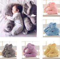 ingrosso dipinti ad olio sciarpe-6 colori 40cm naso lungo elefante bambole elefante cuscino INS cuscini bambino giocattoli peluche bambini cuscino farcito regalo di compleanno CCA7355 100 pz