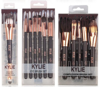 Wholesale Make Up Brush Set Black - kylie Jenner cosmetics Complexion Brush Set Nake Eyeshadow Palettes Foudation Makeup Brushes High Tech Make Up Tools