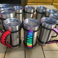 Wholesale New Paracord - 2017 New Handmade Cup Handle Paracord 20Oz 30oz Tumbler Cups Handle Handmade Handle Free DHL XL-A118
