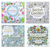 Wholesale Drawing Toys - 2016 Secret Garden Coloring Book Painting Drawing Book 8 theme 24 Pages Animal Kingdom Relieve Stress For Children Adult Christmas Gifts