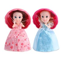 Wholesale Wholesale Fashion Fruit Cake - 2018 Cupcake Surprise Scented Princess Doll Reversible Cake Transform to Mini Princess Doll Barbie 12 Roles with 6 Flavors for Girls toy007