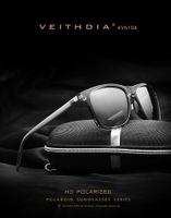 Wholesale Aluminium Frame - New Aluminium Polarized Sunglasses Fashion Retro Driving Mirrored Eyewear Shades