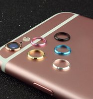 Wholesale Cameras Case For Sale - Metal lens Cap protector Ring Hoop Mobile phone Camera Protection Cover For iphone 6 6s 6Plus Plus Skin +With Retail Packages Top Sale! 2016