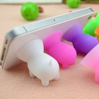 Wholesale Mobile Phone Base - Mini Pig Mobile Phone Holder Stand for iPhone 6 for Galaxy S4 Phones Universal Phone Holder Mobile Phone Base for General Models of Mobile