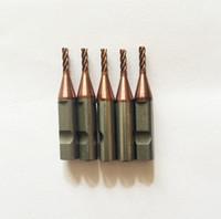 máquina x6 al por mayor-Fresa de carburo de 4 dientes y 2.0 mm para cortadores de llaves V8 / X6 (5 piezas / lote)