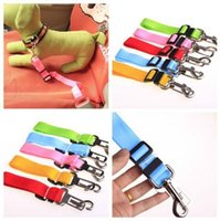 Wholesale Seat Pets Car - D16 New arrival dog Car seat belt pet seat belt dog Car Safety Belts adjustable dog leashes free shipping